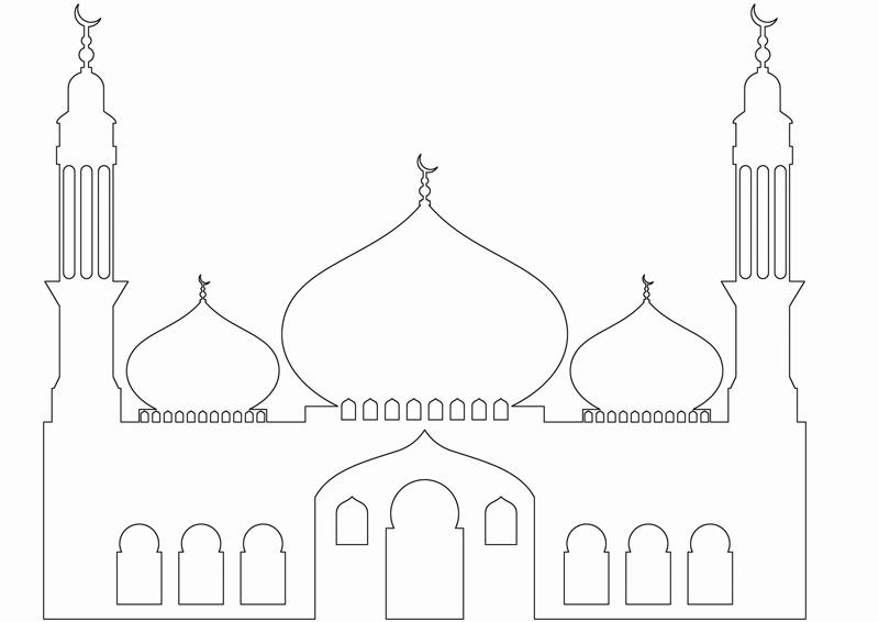 Islam Masjid Moschee Zum Ausmalen Für Kinder Im Islam