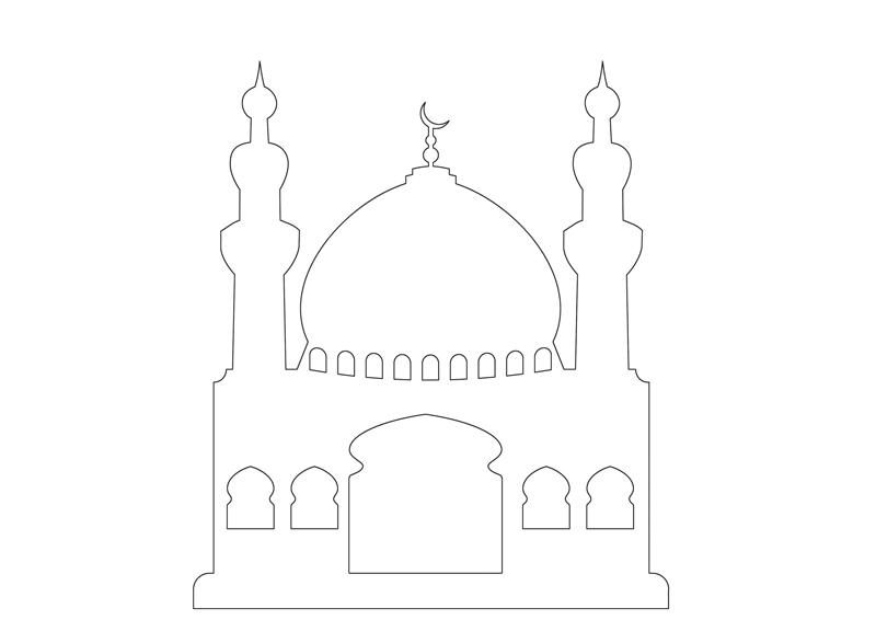 Masjid Moschee Zum Ausmalen Für Kinder 2 Islam Im Herzen