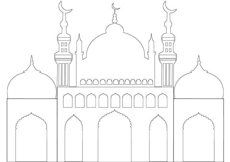 Masjid Moschee Zum Ausmalen Für Kinder 3 Islam Im Herzen