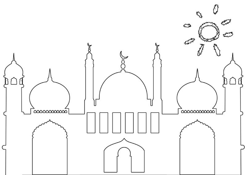 Masjid Moschee Zum Ausmalen Für Kinder 5 Islam Im Herzen