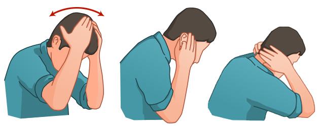Wudu Kopf und Ohren 1 mal