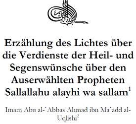 Segenswünsche für den Prophet Muhammad sallallahu alejhi wa sallam