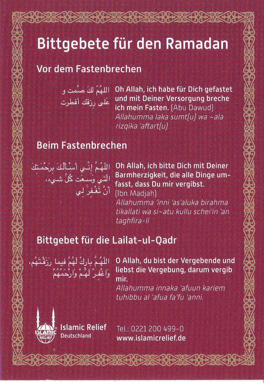 Bittgebete für den Ramadan