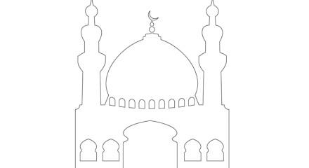 Masjid / Moschee zum ausmalen für Kinder 2