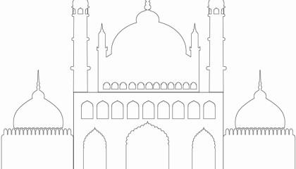 Masjid / Moschee zum ausmalen für Kinder 4