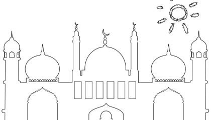 Masjid / Moschee zum ausmalen für Kinder 5