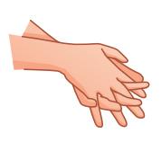 Wudu Hände 3 mal